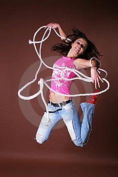 Het Jonge Mooie Meisje Tijdens Actieve Vrije Tijd Stock Afbeeldingen - Afbeelding: 8498334