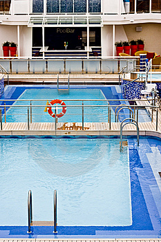 Blue Pool On Ship Royalty Free Stock Photos - Image: 8498358