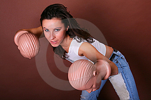 The Young Beautiful Girl During Active Leisure Royalty Free Stock Photo - Image: 8498385