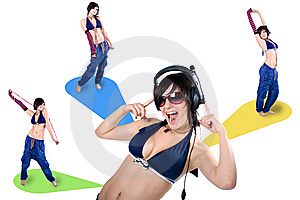 The Young Beautiful Girl During Active Leisure Stock Images - Image: 8498464