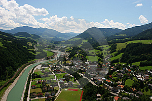 Small Town In Alps Stock Images - Image: 8499664