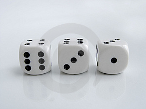 Stock Photos - Three Dice