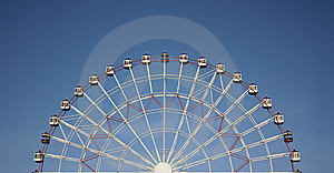 Half Joy Wheel And Blue Sky Stock Photos - Image: 8500083