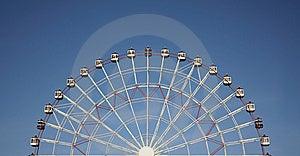 μπλε μισή ρόδα ουρανού χαρά& Στοκ Φωτογραφίες - εικόνα: 8500083