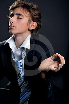 Businessman Relaxing Stock Image - Image: 8500091