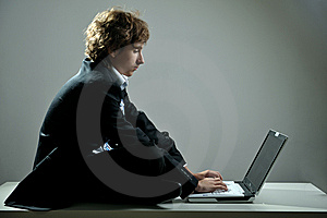 Businessman Using Laptop Stock Photos - Image: 8500093