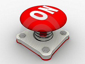 Red Start Button Stock Photo - Image: 8500480