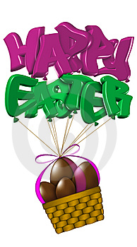 Basket Of Easter Chocolate Eggs Royalty Free Stock Photos - Image: 8500758