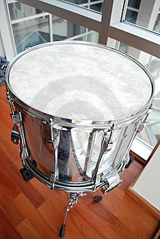 Silver Snare Drum Close Up Stock Photos - Image: 8500893