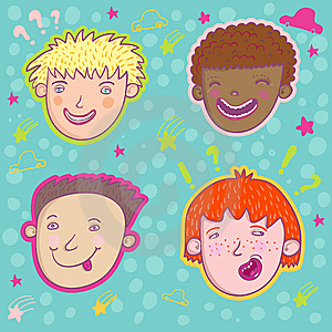 Smiling Boys Stock Image - Image: 8500921