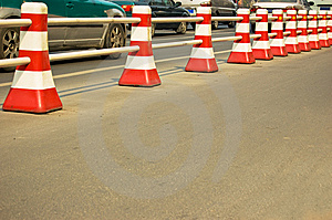 Traffic Barrier Stock Photography - Image: 8501592