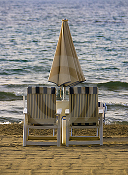 Two Beach Chairs Stock Images - Image: 8501774