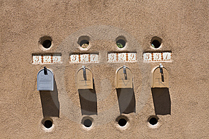 Mailboxes In Santa Fe Royalty Free Stock Photo - Image: 8501855