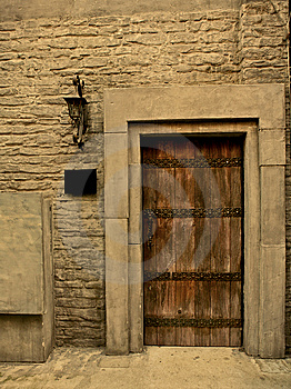 Brown Wooden Door, House Related Stock Image - Image: 8501871