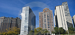 Apartaments Along Lake Shore Drive Royalty Free Stock Photos - Image: 8501898
