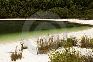 A Lake With White Sand Beaches Royalty Free Stock Images - Image: 8503259