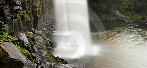 View From Behind A Waterfall Royalty Free Stock Image - Image: 8503276