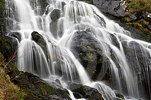 Closeup Of Panoramic Waterfall Stock Photography - Image: 8503572