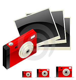Digital Camera With Photos Royalty Free Stock Photo - Image: 8503655