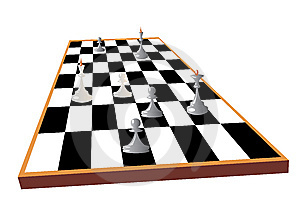 Chessboard With Some Chess Pieces Royalty Free Stock Photo - Image: 8503945