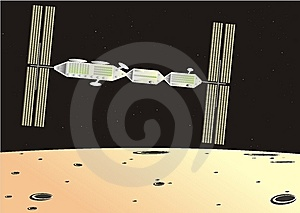 Artificial Satellite Royalty Free Stock Photo - Image: 8504645