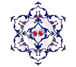 Traditional Antique Ottoman Turkish Tile Illustrat Stock Photography - Image: 8504912