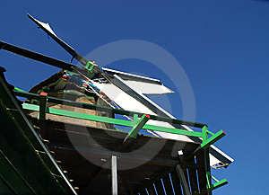 Detail Of A Wood Saw Windmill Stock Photos - Image: 8505883