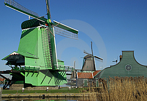 View On Windmill For Grinding Pigements, Saw Mill Royalty Free Stock Photography - Image: 8505967