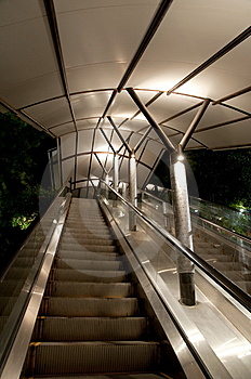 Sheltered Escalator Royalty Free Stock Image - Image: 8506026