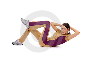 Young Female Doing Fitness Stock Images - Image: 8506034