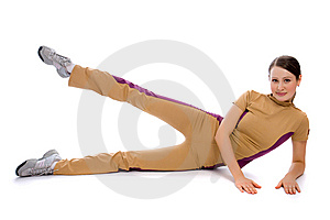 Young Female Doing Fitness Royalty Free Stock Photography - Image: 8506037