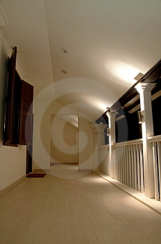 Holiday Resort Corridor Stock Image - Image: 8506091