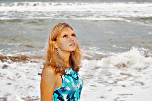 Storm And Sunny Girl Stock Photography - Image: 8506452