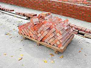 Pile Of The Baked Bricks Stock Photography - Image: 8506612
