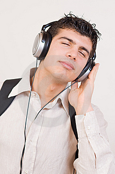 Listening Music Royalty Free Stock Photos - Image: 8506908