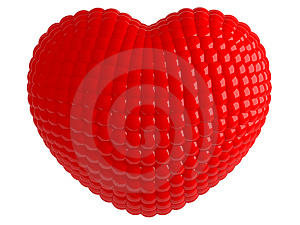 One Isolated Red Heart Stock Images - Image: 8507464