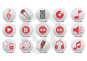 Audio Buttons Royalty Free Stock Photography - Image: 8508057