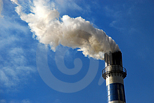 Big Chimney Under The Sky Stock Images - Image: 8508214
