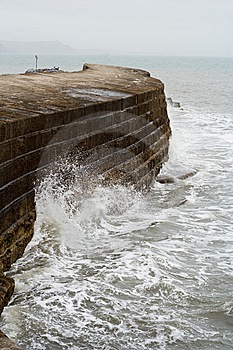 Sea Wall Royalty Free Stock Images - Image: 8508789