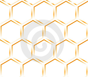 Hexagon Orange Texture. Pattern. Royalty Free Stock Photos - Image: 8509638
