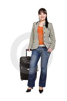 Donna Di Viaggio Fotografie Stock Libere da Diritti - Immagine: 8509728