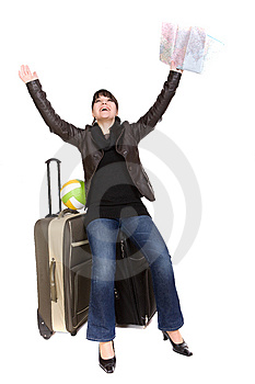 Travelling Woman Stock Images - Image: 8509834