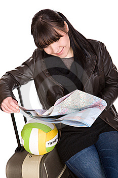 Reisende Frau Stockfoto - Bild: 8509890