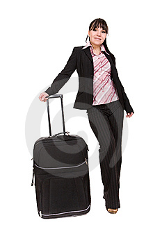 Businesswoman With Suitcase Royalty Free Stock Images - Image: 8509919