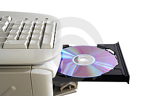 Computer And Disk Stock Images - Image: 8510074