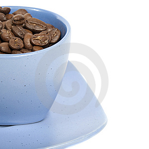 Cup With Coffe Beans Stock Images - Image: 8510274
