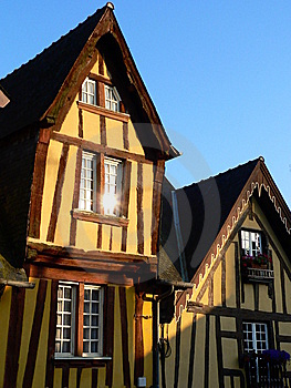 Houses In Fougères ( France ) Royalty Free Stock Photos - Image: 8510438
