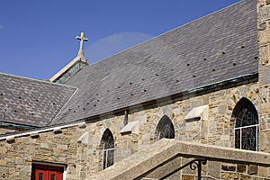 Side View Church And Cross Royalty Free Stock Photos - Image: 8510778