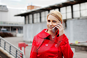 Beautiful Young Businesswoman On The Phone Stock Image - Image: 8512361