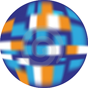 Button (web Button Looking 3d) Blue, White, Orange Stock Photo - Image: 8512570